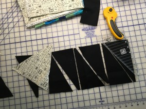 cutting black trianges