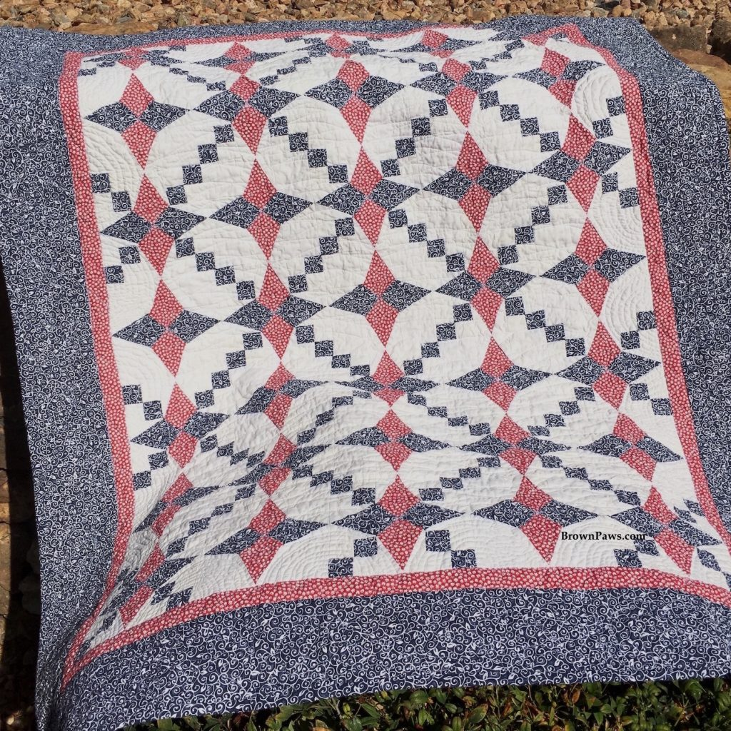 Red and Blue star quilt