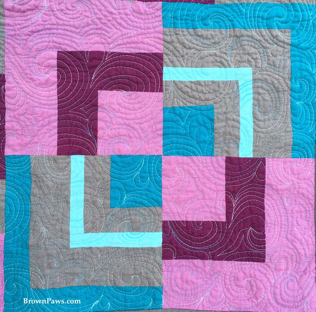 abstract cabin quilting detail