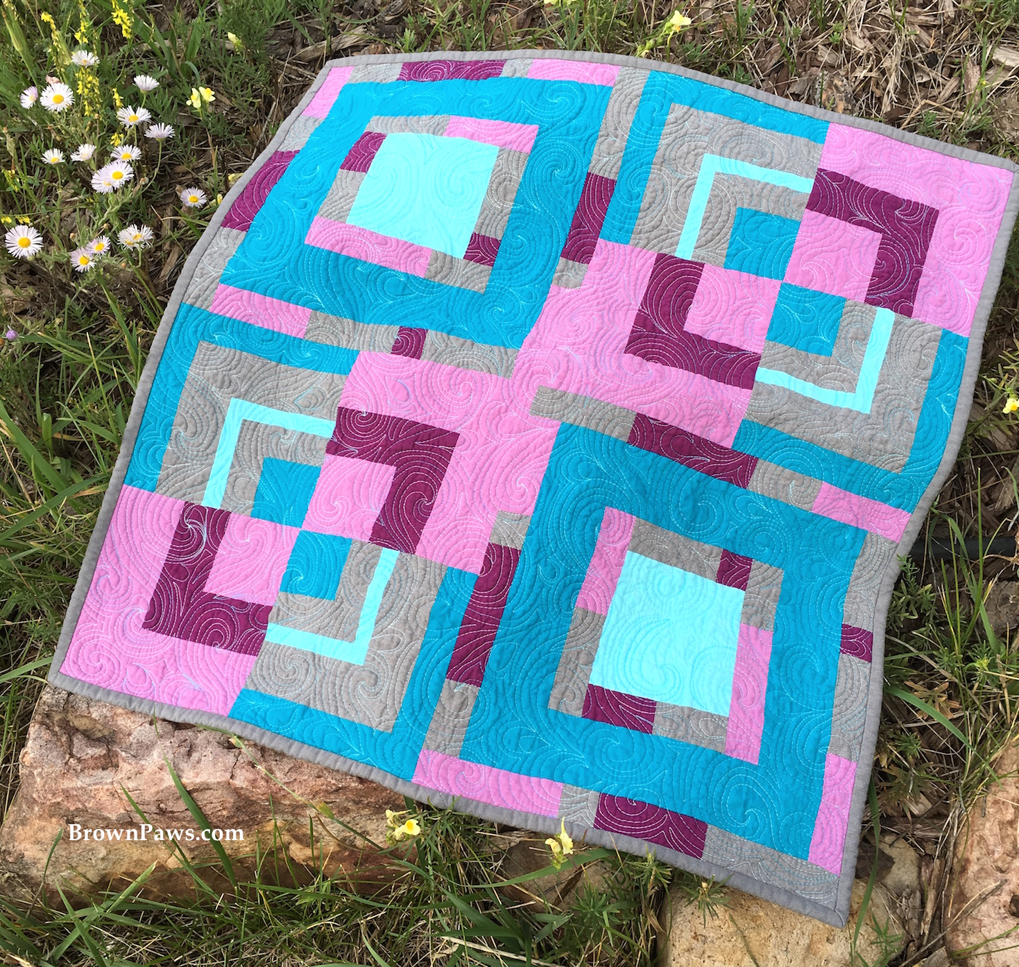 Bloggers Quilt Festival – Square Berries – Fall 2016