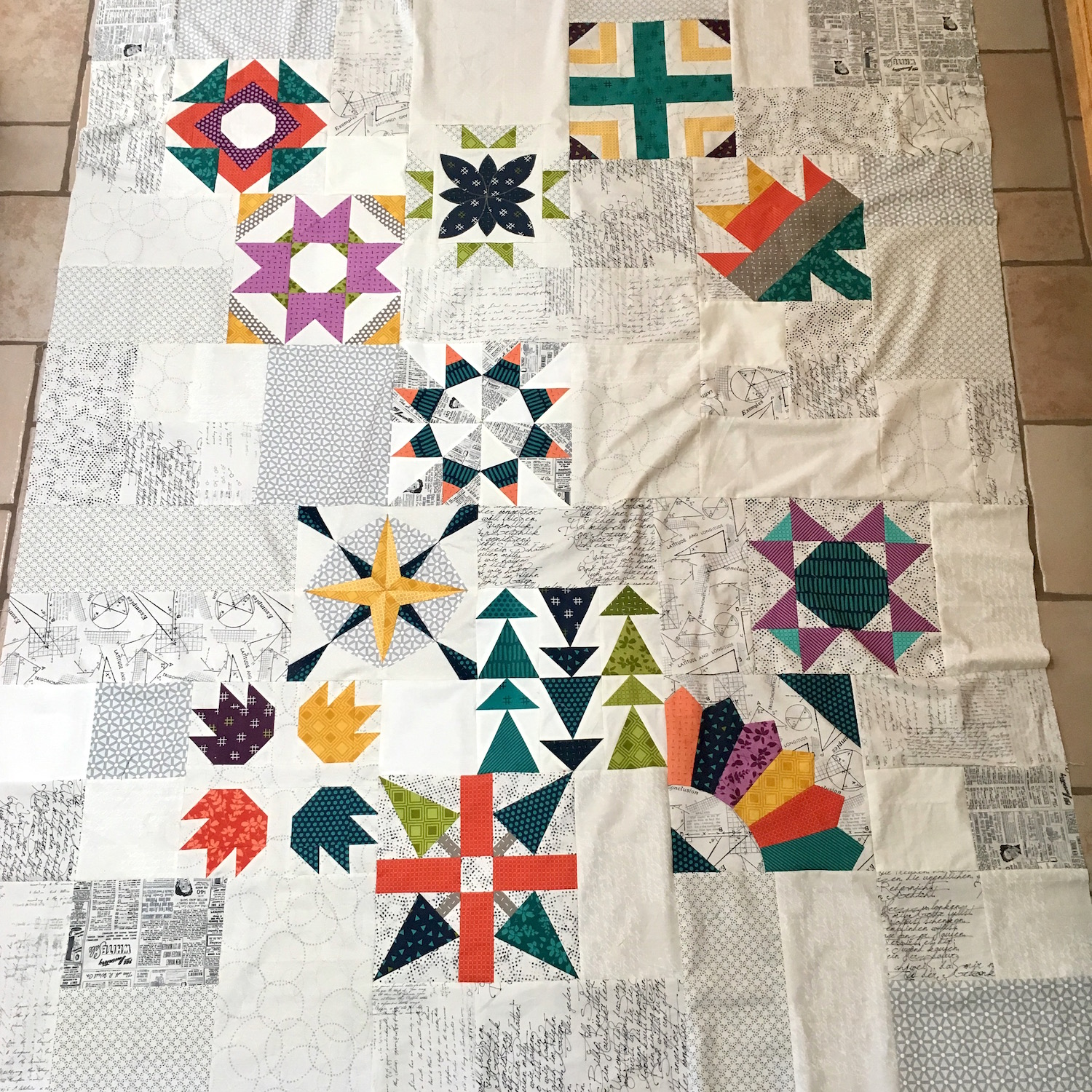 Sugar Block Club 3.0 – Quilt Layout