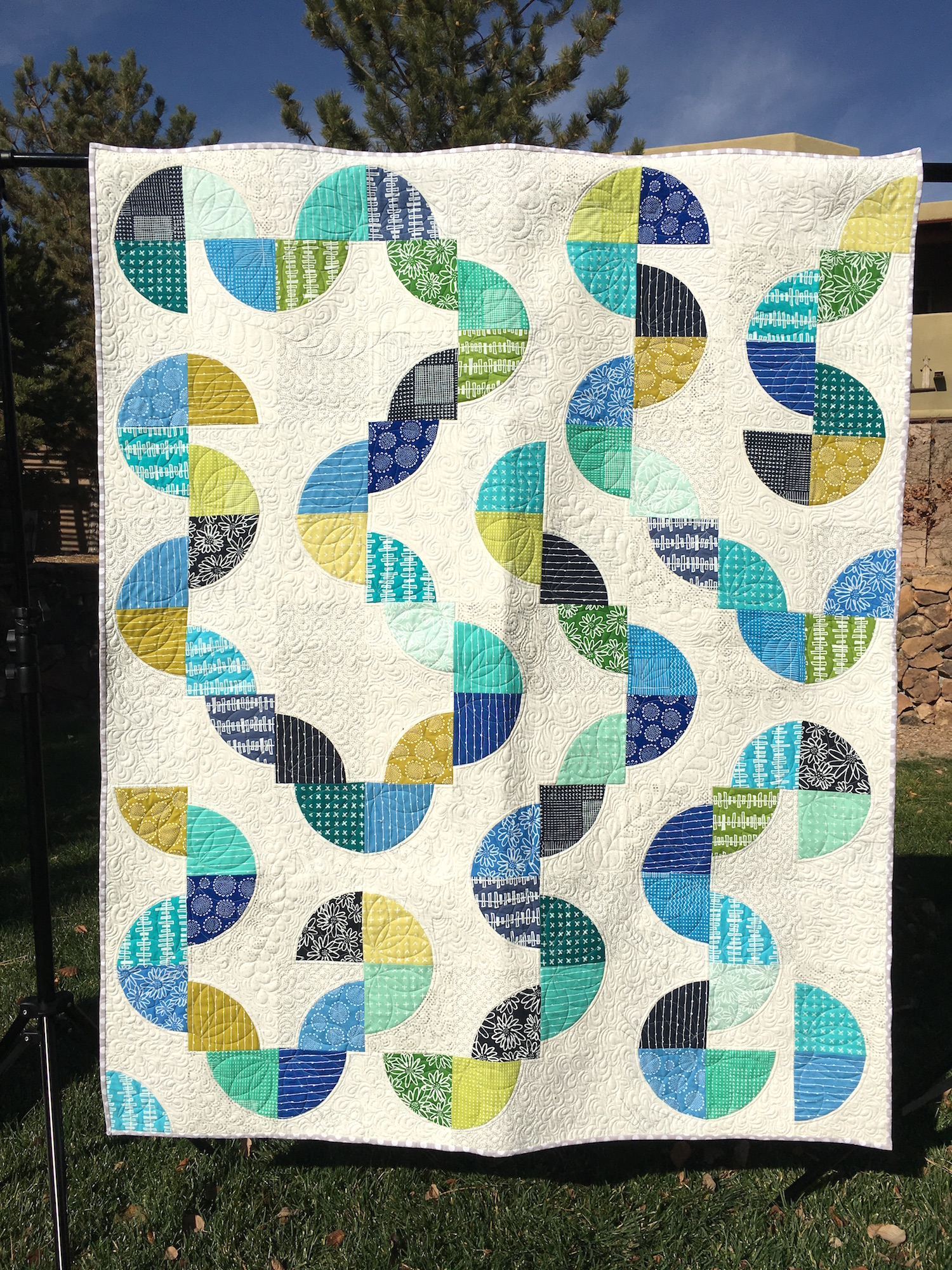 Drunken Blueberry Quilt Finish