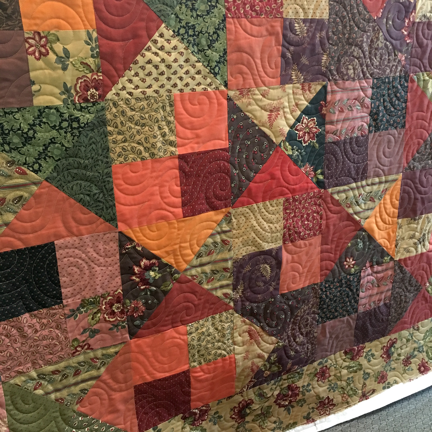 Susan's Swirly Fall Quilt
