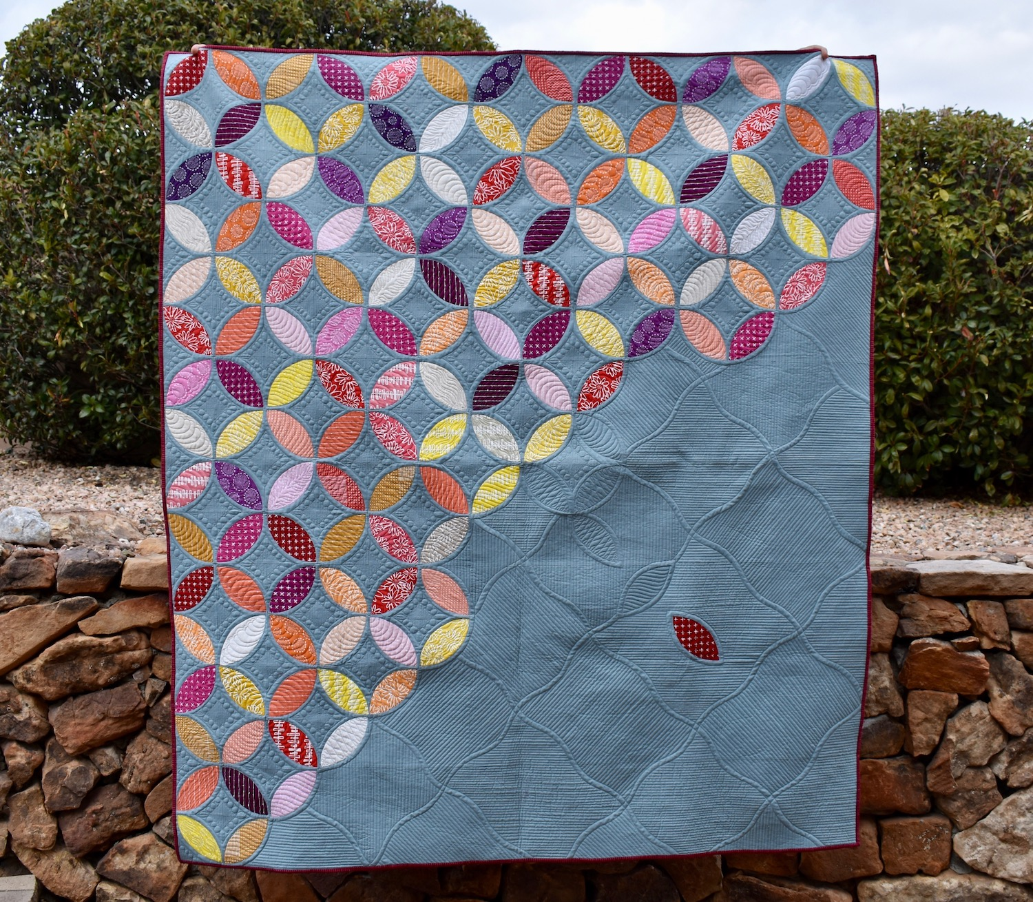Blueberry Orange Peel Quilt Finish