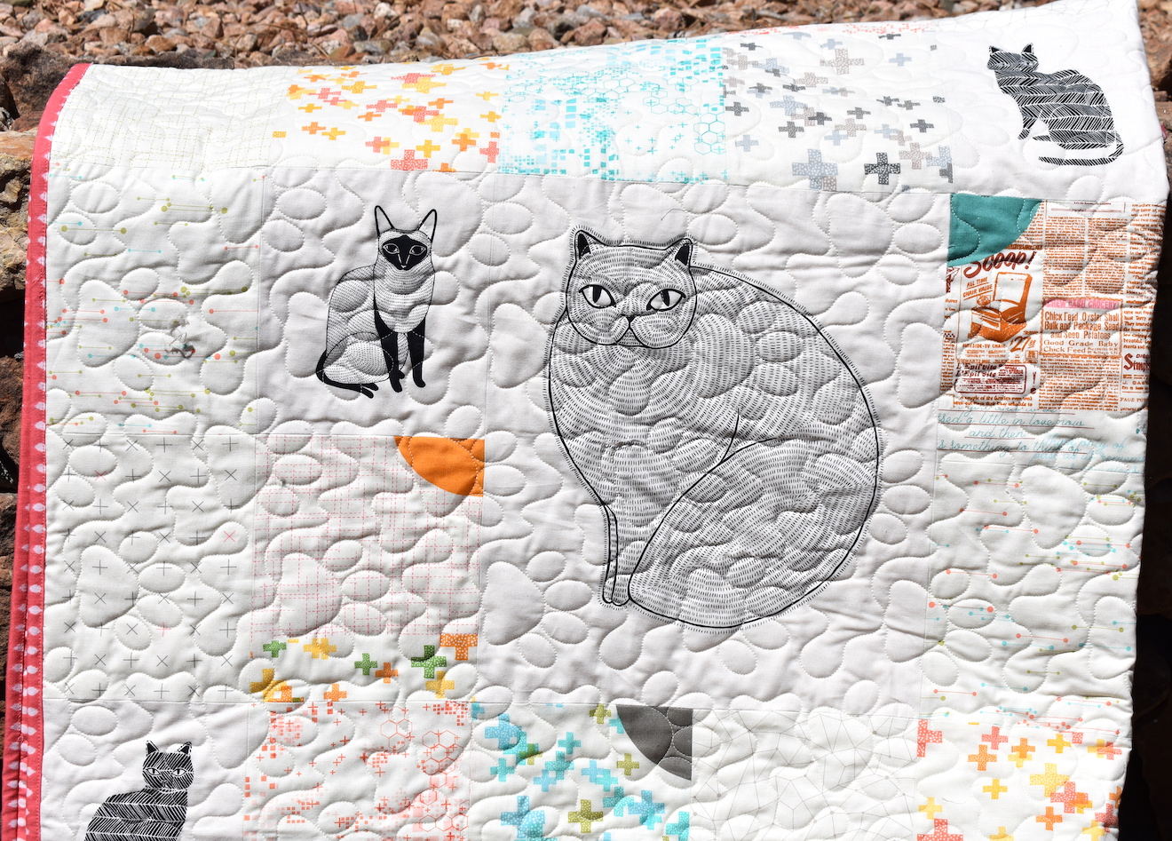 Gingiber Cat Quilt and the Worst Quilt Photos Ever Taken